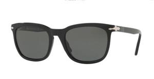PERSOL PO3193S 95 58 Black Square Men's 55 mm Polarized Sunglasses