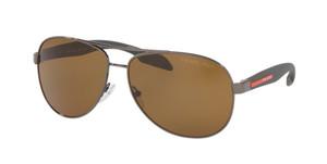 PRADA SPS 53P 5AV-5Y1 Gunmetal Pilot Men's 62 mm Polarized Sunglasses