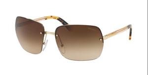 PRADA SPR 63V ZVN-6S1 Light Gold Rectangle Men's 62 mm Sunglasses