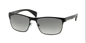 PRADA SPR 51O FAD-3M1 Matte Black Rectangle Men's 58 mm Sunglasses