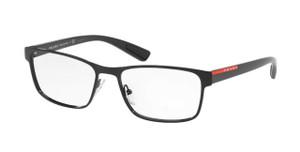 PRADA VPS 50G 1AB-1O1 Black Rectangle Men's 55 mm Eyeglasses