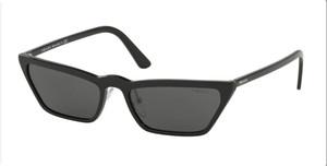 PRADA SPR 19U 1AB-5S0 Black Cat Eye Women's 58 mm Sunglasses