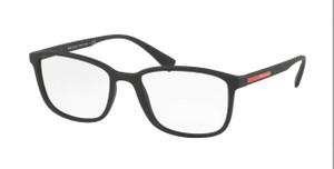 PRADA VPS 04I DG0-1O1 Black Rubber Rectangle Men's 53 mm Eyeglasses