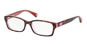 COACH HC6040 5115 Pink Tortoise Rectangle Women's 52 mm Eyeglasses