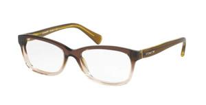 COACH HC6089 5400 Transparent Olive Rectangle Women's 51 mm Eyeglasses