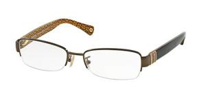 COACH HC5027B 9094 Dark Brown Rectangle Women's 52 mm Eyeglasses