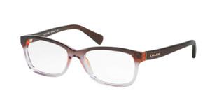 COACH HC6089 5401 Transparent Purple Rectangle Women's 51 mm Eyeglasses