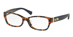 COACH HC6078 5337 Confetti Tortoise Rectangle Women's 52 mm Eyeglasses