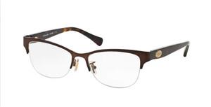 COACH HC5066 9155 Satin Brown Cat Eye Women's 53 mm Eyeglasses