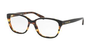 COACH HC6103 5443 Black Glitter Square Women's 54 mm Eyeglasses