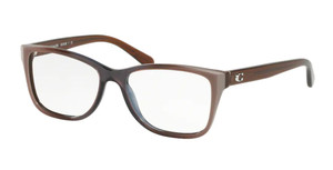 COACH HC6129 5534 Taupe Laminate Rectangle Women's 52 mm Eyeglasses