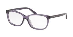 COACH HC6139U 5535 Transparent Purple Rectangle Women's 53 mm Eyeglasses