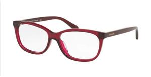 COACH HC6139U 5604 Transparent Burgundy Rectangle Women's 53 mm Eyeglasses