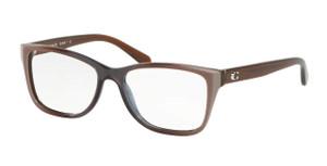 COACH HC6129 5534 Taupe Laminate Rectangle Women's 54 mm Eyeglasses