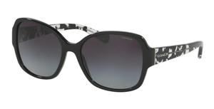 COACH HC8166 534811 Black Rectangle Women's 58 mm Sunglasses