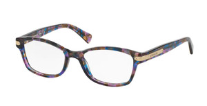 COACH HC6065 5288 Purple Tortoise Square Women's 49 mm Eyeglasses