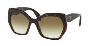 PRADA SPR 16R 2AU-4M0 Havana Square Women's 56 mm Sunglasses