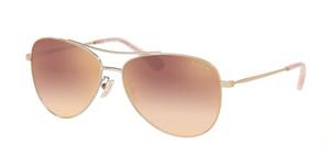 COACH HC7079 90056F Light Gold Pilot Women's 58 mm Sunglasses