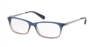 COACH HC6110 5489 Blue Beige Glitter Rectangle Women's 50 mm Eyeglasses