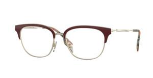 BURBERRY BE1334 1292 Bordeaux Square Women's 52 mm Eyeglasses