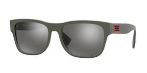 BURBERRY BE4309F 38606G Matte Green Square Men's Sunglasses 57 mm