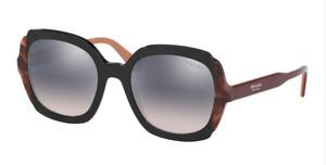 PRADA SPR 16U 495-GR0 Black Square Women's 54 mm Sunglasses
