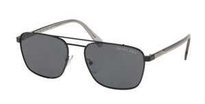 PRADA SPR 61U 1AB-5Z1 Black Rectangle 59 mm Men's Polarized Sunglasses