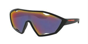 PRADA SPS 10U DG0-9Q1 Black Rubber Cat Eye Men's 30 mm Sunglasses