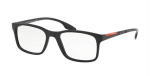 PRADA VPS 01L 1BO-1O1 Matte Black Rectangle Men's 54 mm Eyeglasses