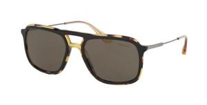 PRADA SPR 06V NAI-5S2 Top Black Rectangle Men's 54 mm Sunglasses