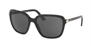 PRADA SPR 10V 1AB-5S0 Black Square Women's 58 mm Sunglasses
