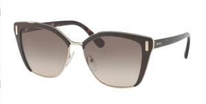 PRADA SPR 56T DH0-3D0 Brown Square Women's 57 mm Sunglasses