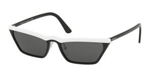 PRADA SPR 19U YC4-5S0 White Black Cat Eye Women's 58 mm Sunglasses