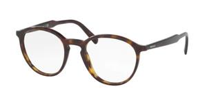 PRADA VPR 13T 2AU-1O1 Havana Round Men's 49 mm Eyeglasses