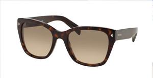 PRADA SPR 09SF 2AU-3D0 Havana Square Women's 56 mm Sunglasses