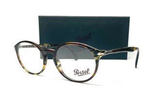 PERSOL PO3211V 1079 Tortoise Green Brown Demo Lens Men's Eyeglasses 52 mm