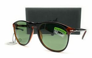 PERSOL PO6649SM 1096P1 Black Green Polarized Men's Sunglasses 55 mm