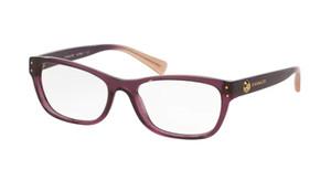 COACH HC6082 5351 Transparent Purple Square Women's 53 mm Eyeglasses