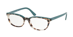 PRADA VPR 13V 475-1O1 Spotted Brown Oval Women's 53 mm Eyeglasses