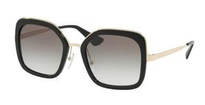 PRADA SPR 57U 1AB-0A7 Black Square Women's 54 mm Sunglasses