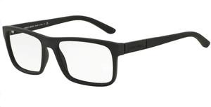 GIORGIO ARMANI AR7042 5063 Black Rubber Rectangle Men's 56 mm Eyeglasses