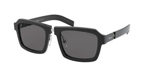 PRADA SPR 09X 1AB-5S0 Black Square Men's 53 mm Sunglasses
