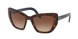 PRADA SPR 08V 2AU-6S1 Havana Cat Eye Women's 55 mm Sunglasses