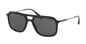 PRADA SPR 06V 1AB-1A1 Black Rectangle Men's 54 mm Sunglasses