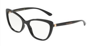 DOLCE & GABBANA DG5039 501 Black Cat Eye Women's 52 mm Eyeglasses