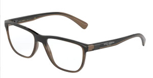 DOLCE & GABBANA DG5053 3259 Transparent Brown Square Rectangle Men's 54 mm Eyeglasses