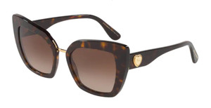 DOLCE & GABBANA DG4359 502 13 Havana Cat Eye Women's 52 mm Sunglasses