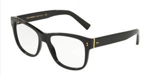 DOLCE & GABBANA DG3305 501 Black Square Men's 54 mm Eyeglasses