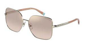 TIFFANY TF3078B 61614E Pale Gold Square Women's 60 mm Sunglasses