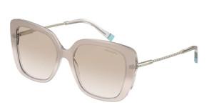 TIFFANY TF4177 833511 Satin Champagne Square Rectangle Women's 55 mm Sunglasses
